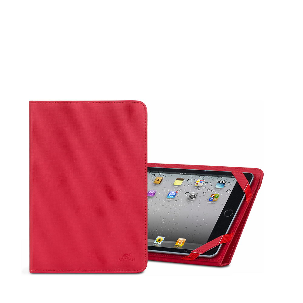 3214 red kick-stand tablet folio 8