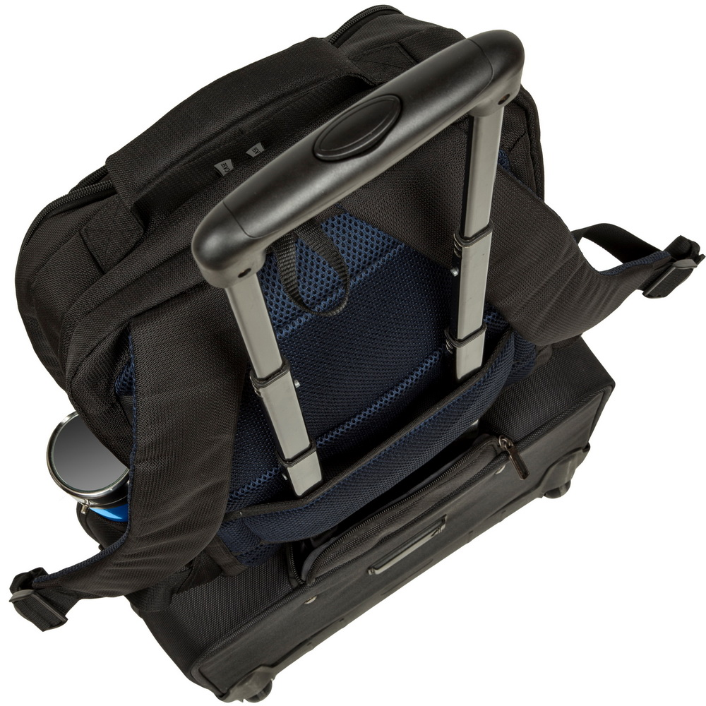 The bag provides maximum storage capacity.