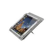 3207 light grey kick-stand tablet folio 10.1