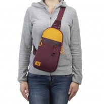 5312 burgundy red Sling bag for mobile devices