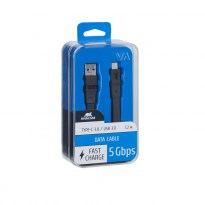 6003 BK12 Type С 3.0 – USB cable 1.2m black RU